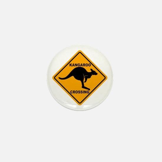 Kangaroo Crossing Sign Mini Button