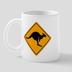 Kangaroo Road Sign Mug