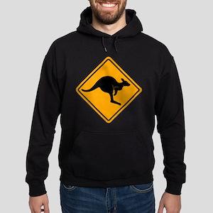 Kangaroo Road Sign Hoodie (dark)