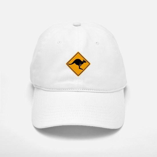 Kangaroo Road Sign Baseball Baseball Cap