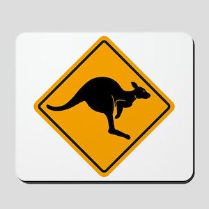 Kangaroo Road Sign Mousepad