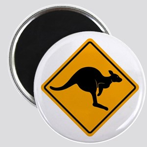 Kangaroo Road Sign Magnet