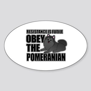 Pomeranian Sticker (Oval)