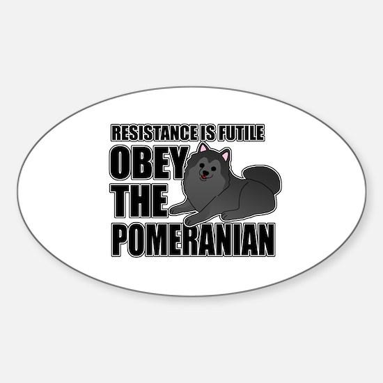 Pomeranian Sticker (Oval)
