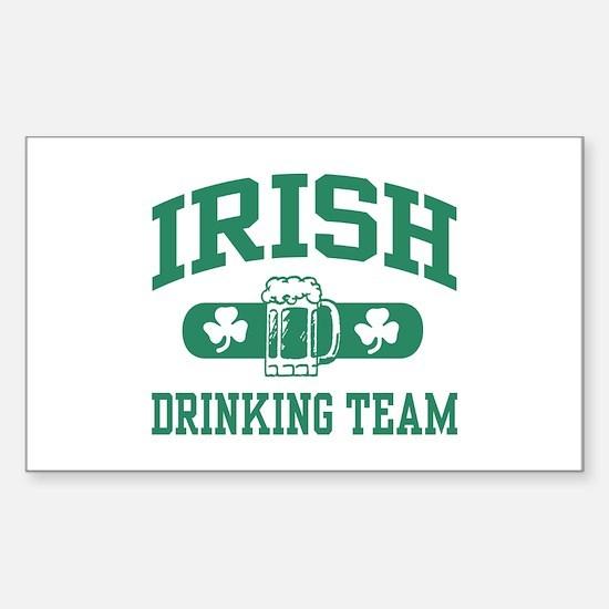 Irish Drinking Team Rectangle Decal