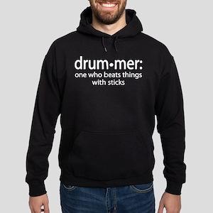 Funny Drummer Definition Hoodie (dark)