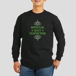 Official Kilt Inspector Long Sleeve Dark T-Shirt