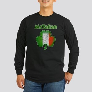 McTalian Distressed Long Sleeve Dark T-Shirt