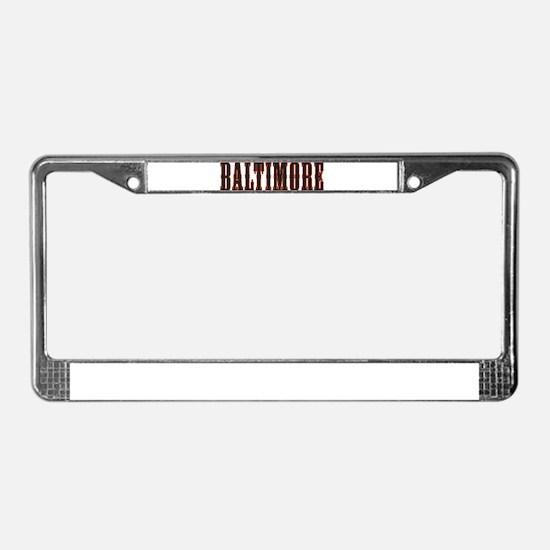 Funny Babe License Plate Frame