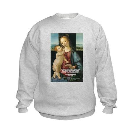 Leonardo da Vinci Madonna Kids Sweatshirt