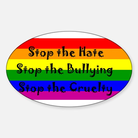Stop the Hate Sticker (Oval)