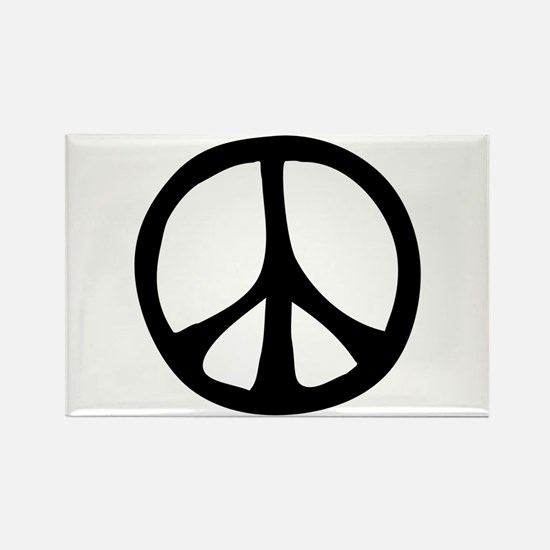 Flowing Peace Sign Rectangle Magnet (100 pack)