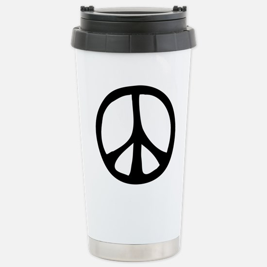 Flowing Peace Sign Stainless Steel Travel Mug