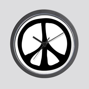 Flowing Peace Sign Wall Clock