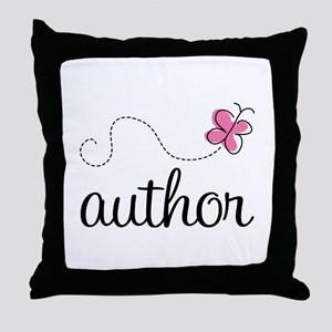 Cute Author Throw Pillow