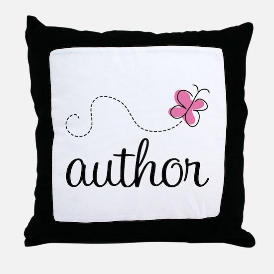 Cute Author Throw Pillow