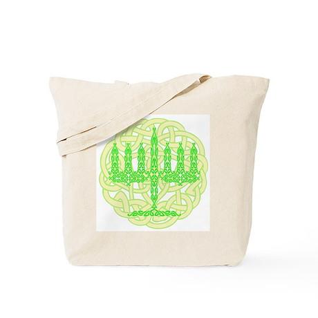 Celtic Menorah Tote Bag