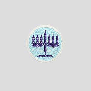 Celtic Menorah Mini Button