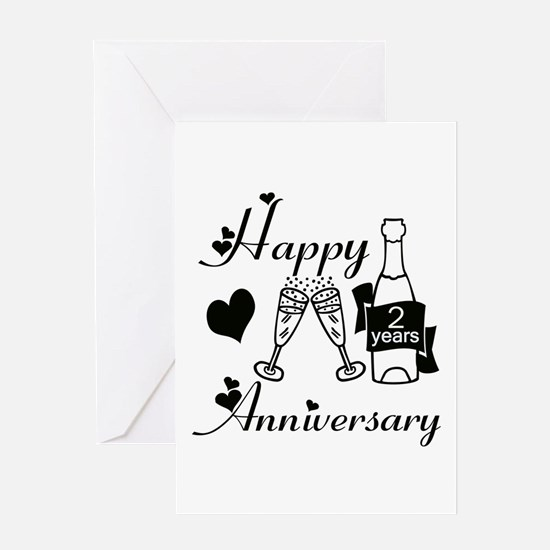 Anniversary black and white 2 Greeting Cards