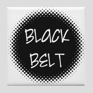 Martial Arts Black Belt Tile Coaster