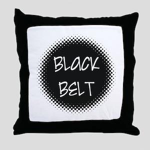 Martial Arts Black Belt Throw Pillow