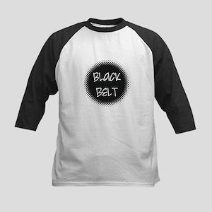 Martial Arts Black Belt Kids Baseball Jersey