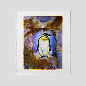 Penguins, Bright, Throw Blanket