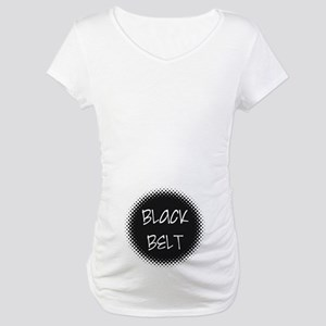 Martial Arts Black Belt Maternity T-Shirt