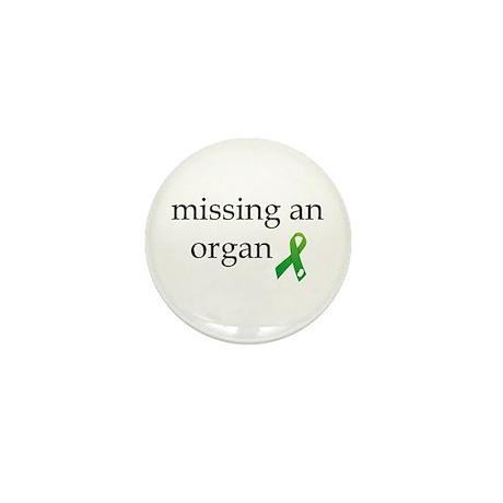 Missing An Organ Mini Button (10 pack)