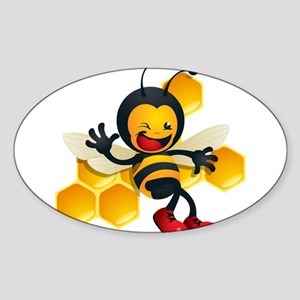 Bumble Bee Sticker (Oval)
