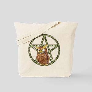 vines Pentagram Owl Tote Bag