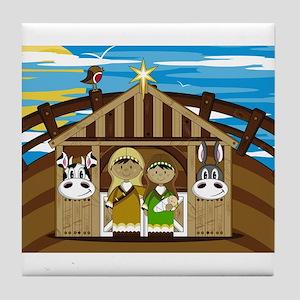 Joseph and Mary Nativity Tile Coaster
