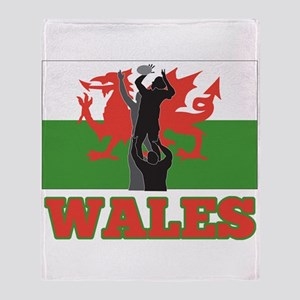 rugby wales Throw Blanket