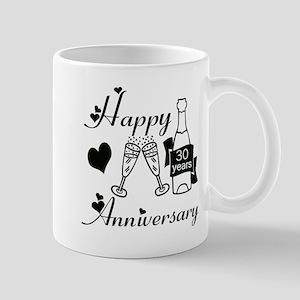 Anniversary black and white 30 Mugs