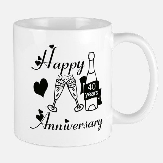Anniversary black and white 40 Mugs