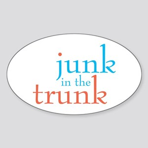 Junk in the Trunk/Lady Lumps Sticker (Oval)