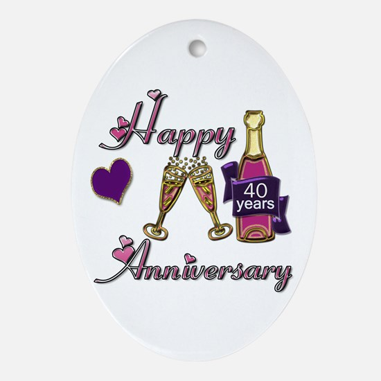 Cute Wedding favors Oval Ornament