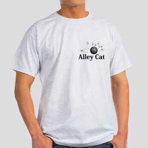 Alley Cat Logo 2 Light T-Shirt Design Front Pocket