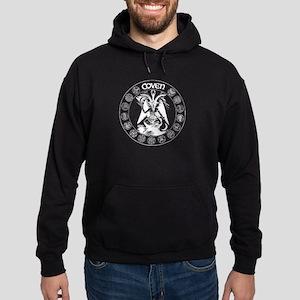 Black Coven Winter Ritual Circle Hoodie (dark)