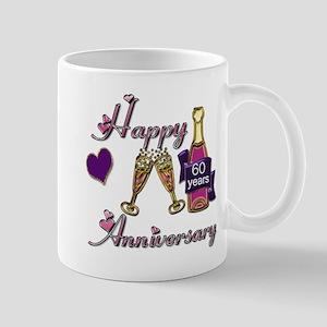 Anniversary pink and purple 60 copy Mugs