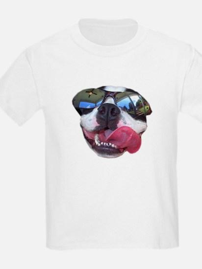 BOSTON TERRIER YO DAWG SUNGLASSES Kids T-Shirt