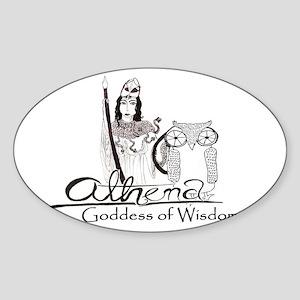 Athena: Goddess of Wisdom Sticker (Oval)