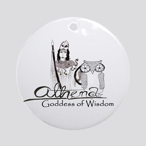 Athena: Goddess of Wisdom Ornament (Round)