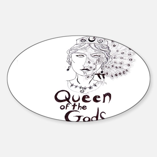 Queen of the Gods Sticker (Oval)