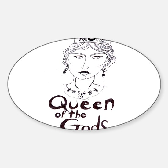 Queen of the Gods (w/o peacoc Sticker (Oval)