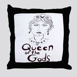 Queen of the Gods (w/o peacoc Throw Pillow