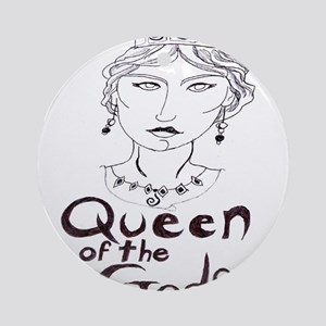 Queen of the Gods (w/o peacoc Ornament (Round)
