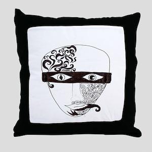 Mask Two Throw Pillow