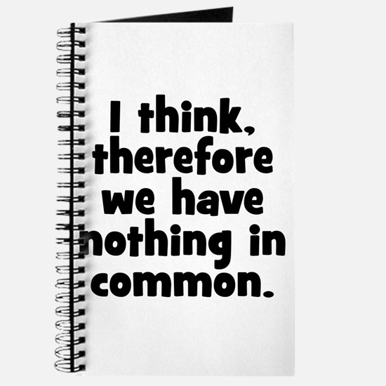 Nothing in Common Journal