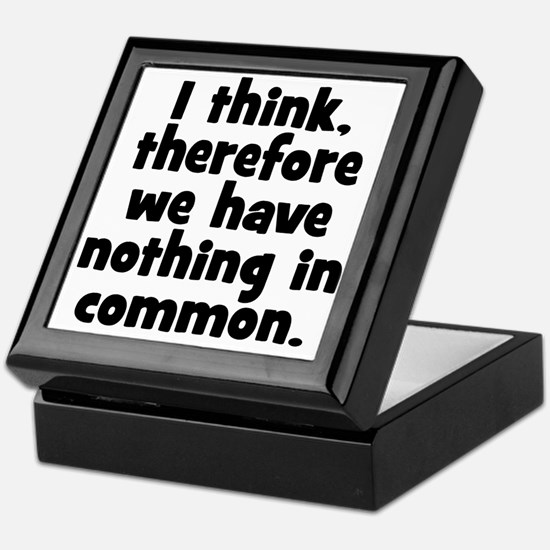 Nothing in Common Keepsake Box
